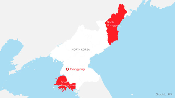 A map showing the confirmed cases of the novel coronavirus (nCoV) in North Korea.