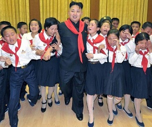 North Korean leader Kim Jong Un (C) at a Korean Children's Union celebration in Pyongyang, June 6, 2012.