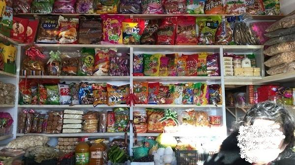 A local snack bar in Chongjin, North Hamgyong Province, North Korea sells snacks produced by state-run factories in a file photo.