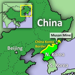 Battle for north koreas resources a map displays north koreas largest mining facility musan located near the border with gumiabroncs Choice Image
