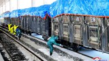 This undated picture released from North Korea's official Korean Central News Agency (KCNA) on March 4, 2020 shows workers disinfecting freight trains to prevent the spread of the COVID-19 coronavirus in Sinuiju, North Pyongan Province.