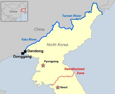 North korean workers in china face stepped up restrictions nk china dandong map 400g gumiabroncs Gallery