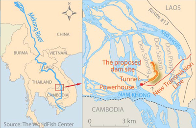 The Don Sahong is the second mainstream dam planned for the Mekong River. Credit: RFA