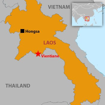 Map of Hongsa in northern Laos