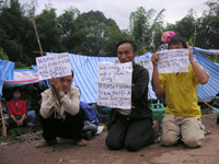 Dec 2005: Hmong refugees appeal to the United Nations to treat them as political asylum seekers. Photo: RFA.