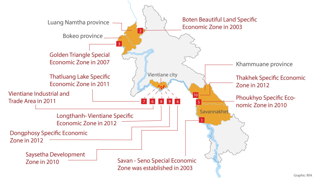 Lao Government Should Grant Concession Leases Based On Investment - Economic zones southeast asia map