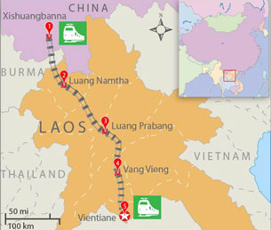 Laos-China Railroad Set for Launch