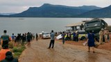 Rescue teams and local officials are working to save survivors from a capsized yacht on the morning of April 4th, 2021 in the Nam Ngeum reservoir in Vientiane province, Laos.