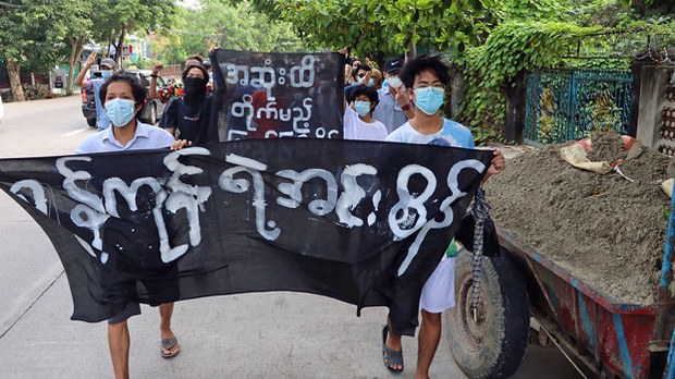 Myanmar Air Force Bases Hit by 'Improvised Rocket Attacks'