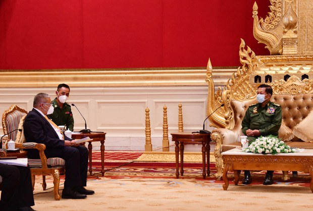 ASEAN Officials Present Names of Envoy Candidates in Meeting With Myanmar Junta Chief