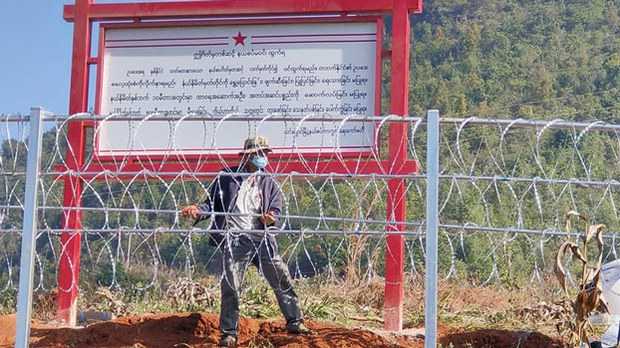 China Border Fence, Aimed at Curbing COVID-19 Spread, Draws Complaints in Myanmar