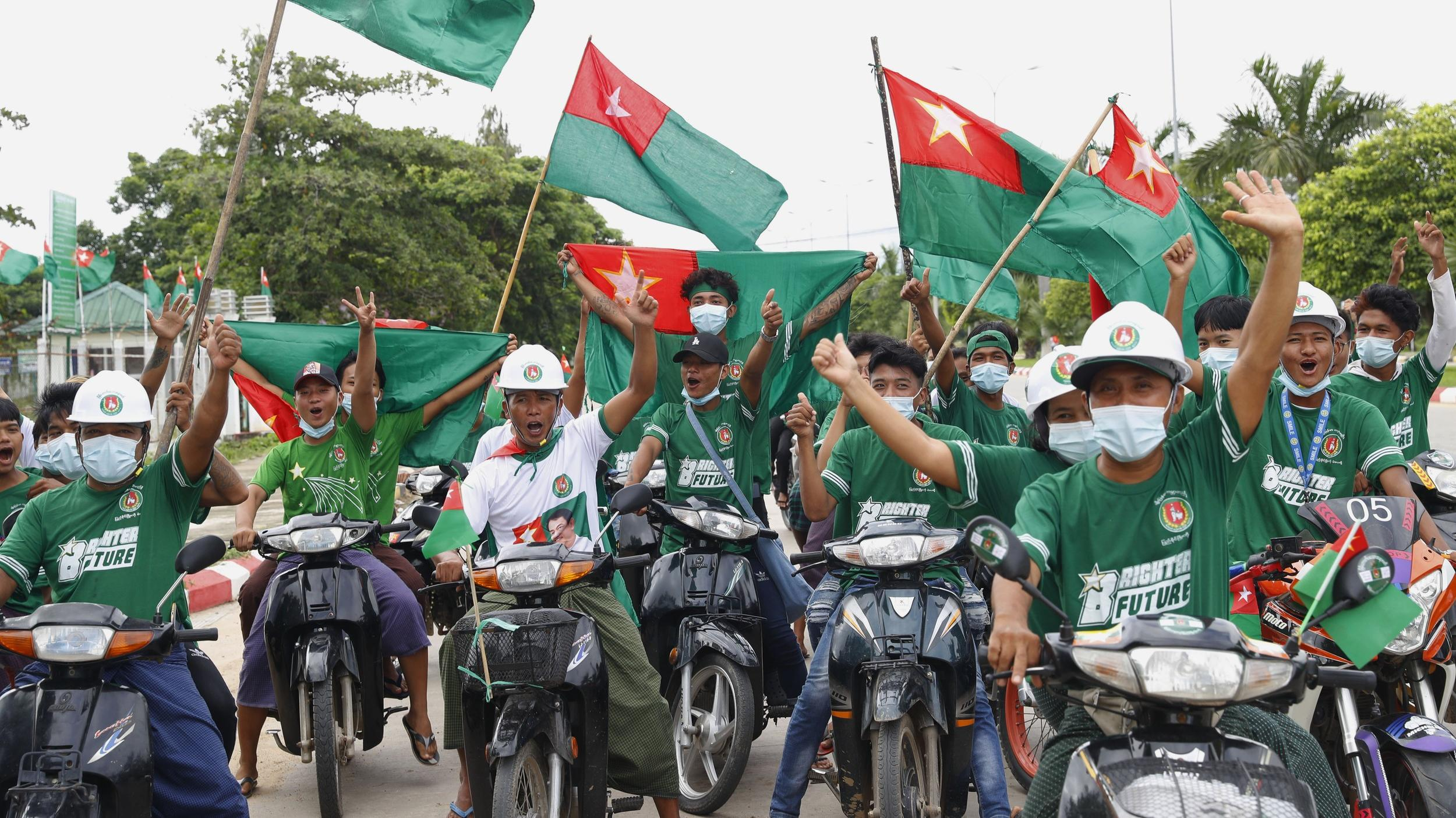 Myanmar Election Crowds Defy Coronavirus Restrictions at Campaign Events