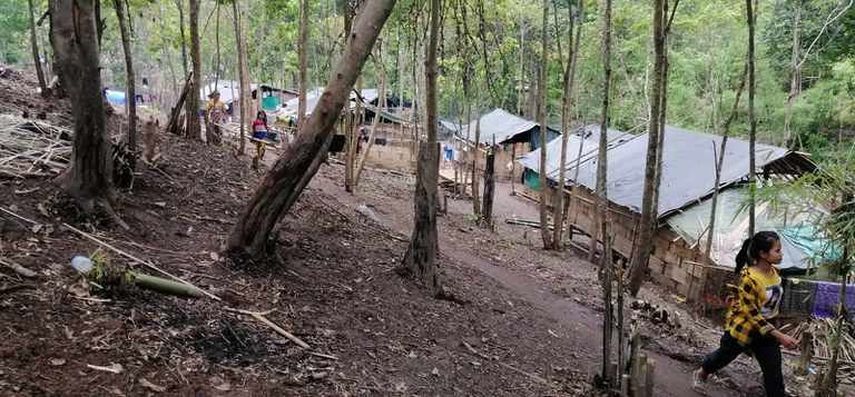 A temporary IDP camp in a KNPP-controlled area of Kayah State, near the border with Thailand, July 15, 2021. RFA