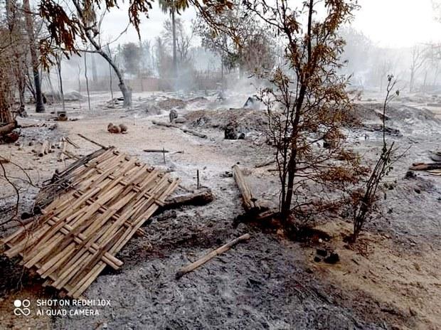 Myanmar Elderly Perish as Village Razed in Fire Blamed on Junta Troops
