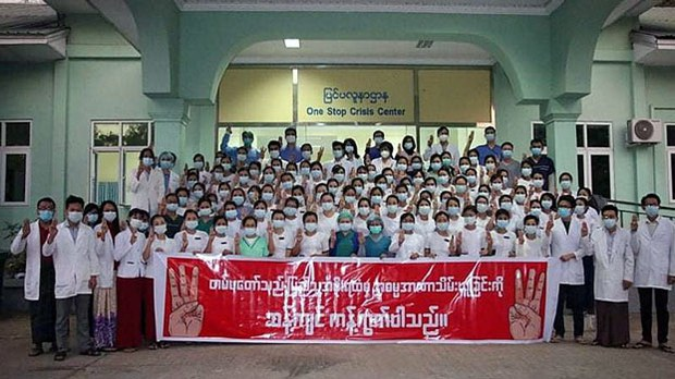 Health Care Feels The Pinch as Myanmar Medical Workers Join Civil Disobedience Movement