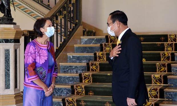 UN Envoy Meets Thai PM, Asks for Help in Ending Myanmar Crisis