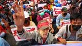 Arrests, Journalist Beatings as Myanmar Junta Faces Relentless Protests Rejecting Army Rule