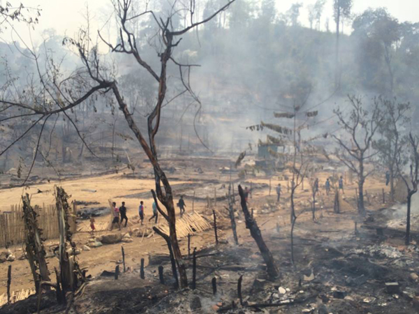 Karenni Refugee Camp Fire Destroys Hundreds Of Homes In