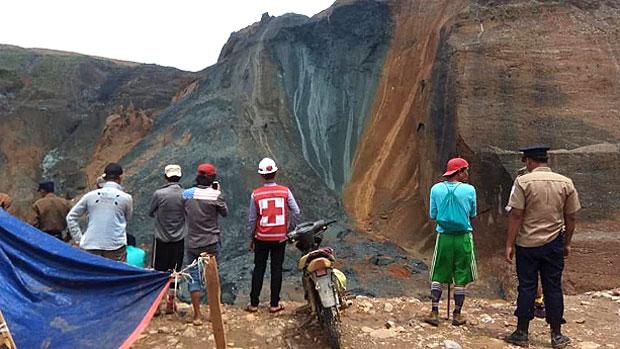 at least 27 missing  feared dead  in myanmar jade mine