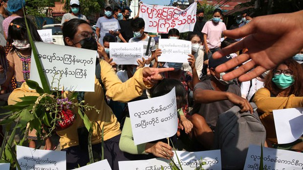 Myanmar Protesters Swap New Year Blessings for Anti-Junta Statements