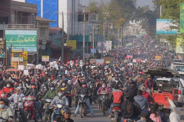 Myanmar Military Junta Sets Curfews, Crowd Controls After Days of Mass Protests