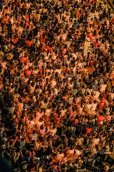 People holding prayer vigil in Yangon's Hledan in night on 03-14-2021 by CJ.jpg