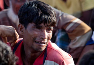 One of the Rohingyas who was pushed back to sea by Bangladesh authorities, June 18, 2012.