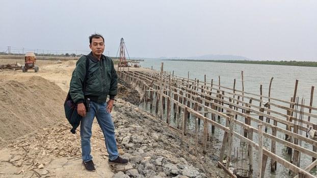 Reporter Aung Kyaw Min of the Rakhine State-based Development Media Group (DMG), Dec. 22, 2020.