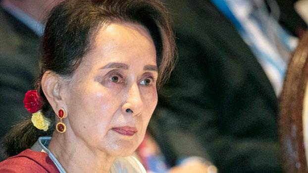 Myanmar's leader Aung San Suu Kyi participates in ASEAN-United Nations summit in Nonthaburi, Thailand, Nov. 3, 2019