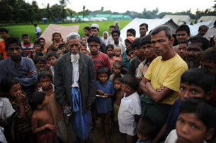 Rohingyas at the Dabang Internally Displaced Persons camp, on the outskirts of Sittwe, Oct. 10, 2012.