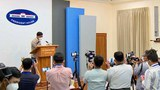 Myanmar government spokesman Zaw Htay addresses reporters at a press conference in Naypyidaw, Jan. 8, 2021.