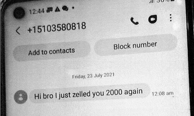 A screenshot of mobile phone texts between Ye Hein Zaw and Phyo Hein Htut regarding advance payments through a money transfer app for the alleged plot to attack Myanmar's UN ambassador. Credit: U.S. Attorney's Office, Southern District of New York