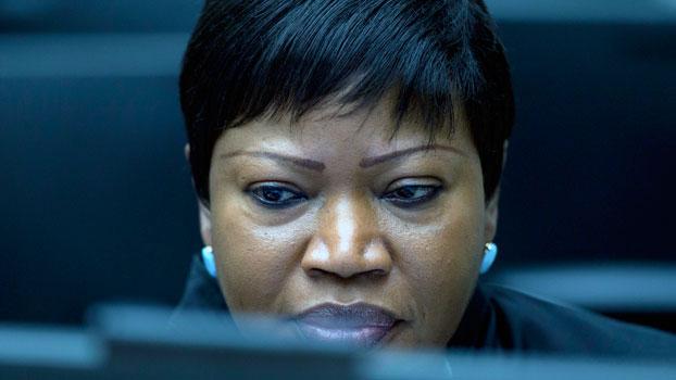 Fatou Bensouda, chief prosecutor of the International Criminal Court, waits for the start of a trial at the international tribunal in The Hague, the Netherlands, Jan. 28, 2016.