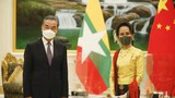 Chinese FM Wang Yi meets with Myanmar's State Counsellor Aung San Suu Kyi in Naypyidaw, Myanmar, Jan 10, 2021.