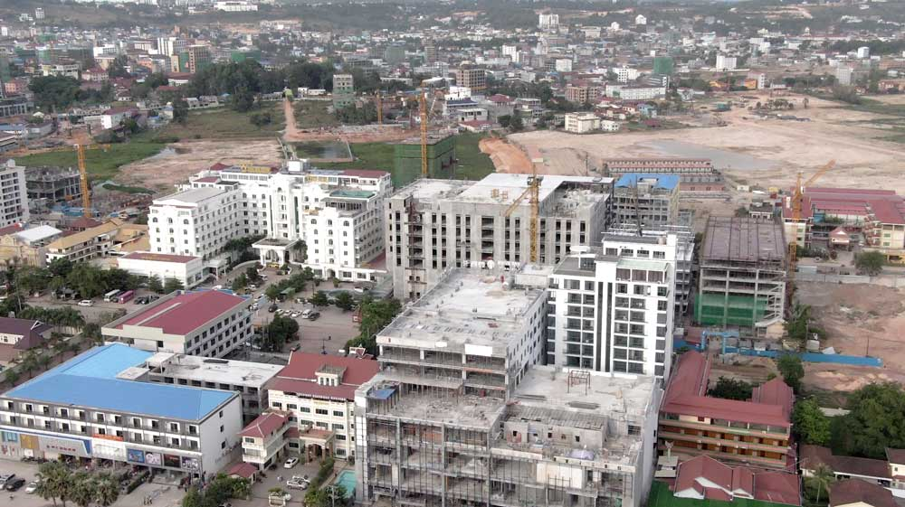 Chinese casino and hotel complex construction. United Nations Office on Drugs and Crime report, published in 2019, shows 150 of the 230 licensed casinos in Southeast Asia are in Cambodia. Photo: RFA
