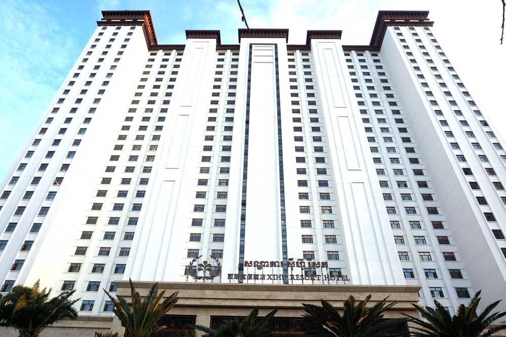 Sihanoukville's newly opened Chinese Xihu Resort. Photo: RFA