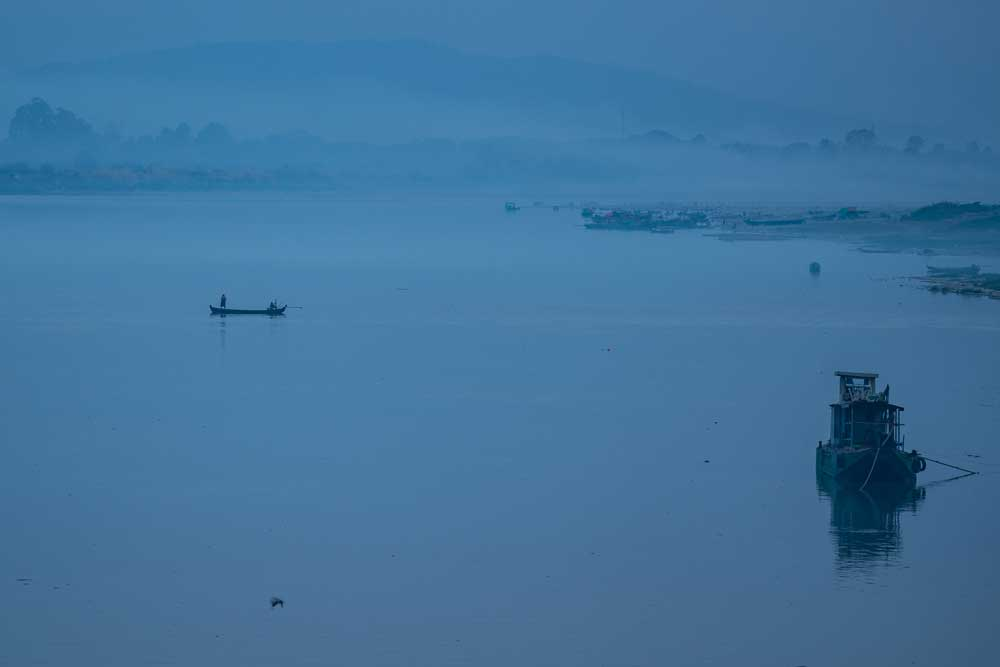 Early morning mist on the great Ayeyarwady River. Photo: RFA