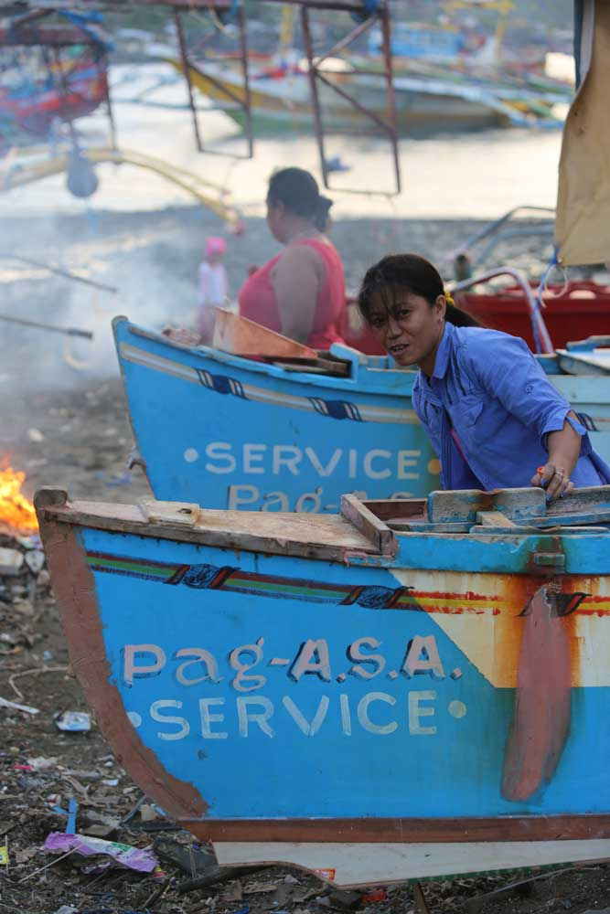 The fishing communities of the Philippines live on the fortunes of their fleets, every member of the family contributing to the enterprise that decides their fate. Photo: RFA