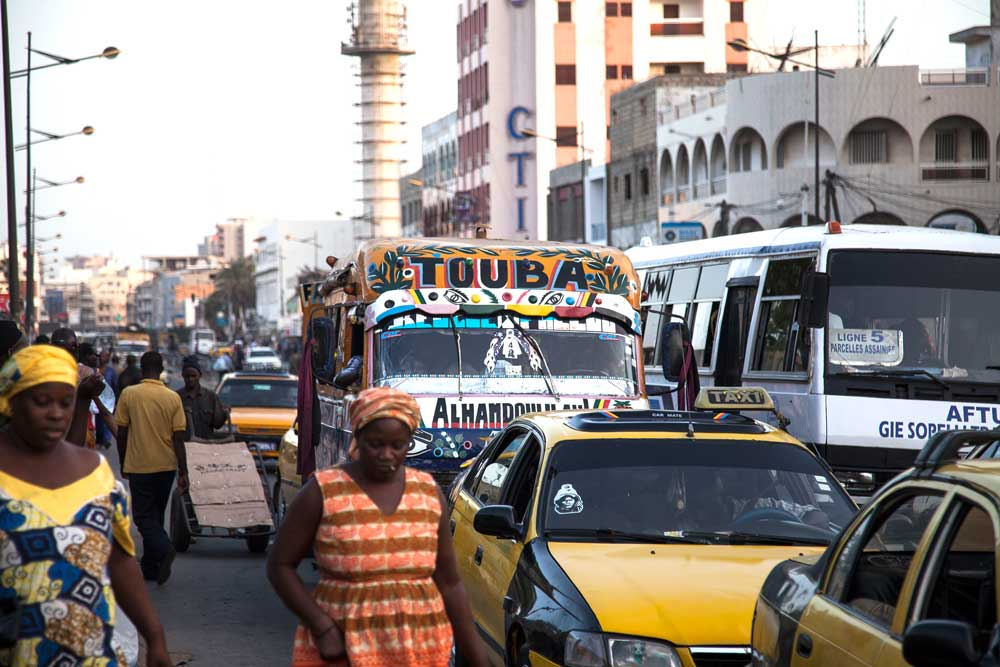 Street scene in Dakar. Senegal has a population of nearly 16 million people and is the second-fastest growing economy in West Africa. Photo: RFA
