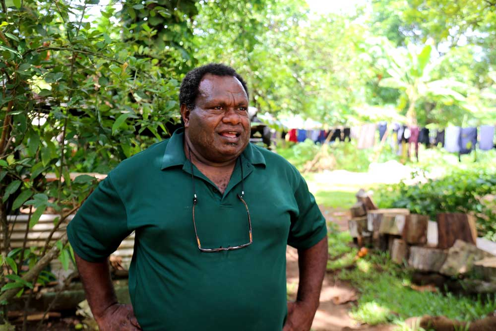Charlie Falau, community leader. Charlie, like many of the local Nivan people of Vanuatu, has witnessed the rise of Chinese investment in Vanuatu with increasing concern. Photo: RFA