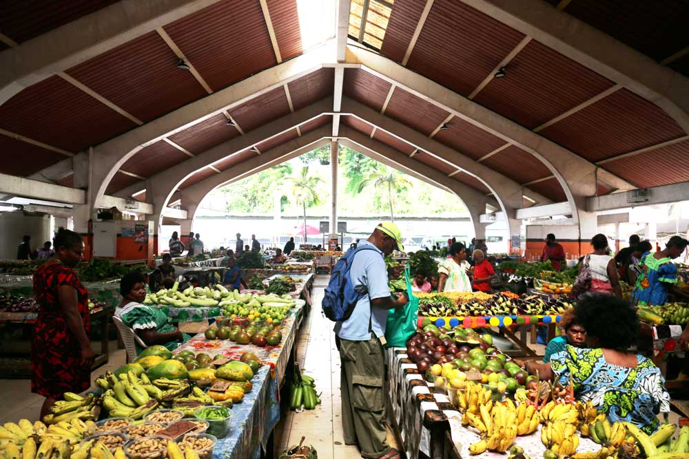 Port Vila markets. A popular local market for Nivan people to sell their farm produce. Photo: RFA