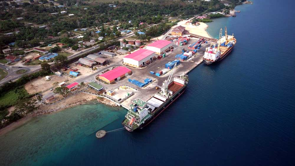 Luganville Wharf, Santos Island. The US$114 million Chinese upgrade of this wharf has raised concerns in the US and Australia that China could use the port to establish a military presence in the Pacific. Both China and the Vanuatu government have dismissed these concerns. Photo: RFA