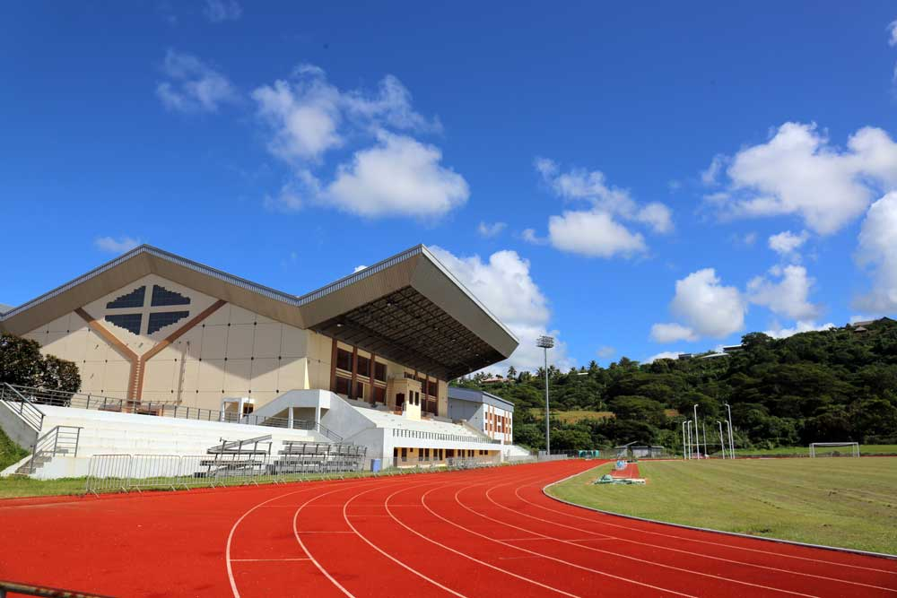 Korman Stadium, Port Vila. One of many landmarks in Port Vila funded by the Chinese government. Photo: RFA