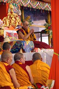 The Dalai Lama giving Kalachakra teachings. Credit: RFA / Thomas L. Kelly