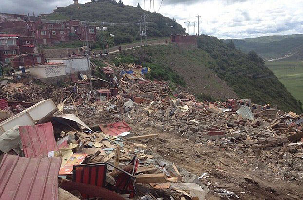 Destruction Proceeds At Larung Gar With At Least 600