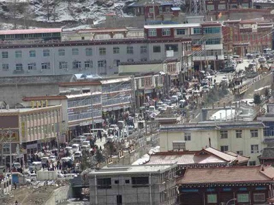 Military vehicles are deployed in Draggo, Jan. 27, 2014. Photo courtesy of Free Tibet.