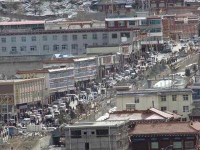 Military vehicles are deployed in Draggo, Jan. 27, 2014. Photo courtesy of Free Tibet.