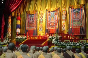 The Dalai Lama leads a prayer gathering in Taiwan, Sept. 1, 2009. Photo: RFA