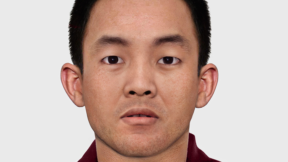 A reconstructed image of how the Panchen Lama might look at the age of 30. Credit: ITN