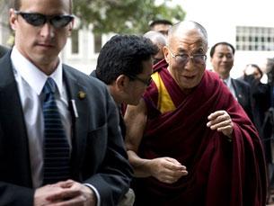 Exiled Tibetan spiritual leader the Dalai Lama arrives in Washington D.C., Feb. 17, 2010.